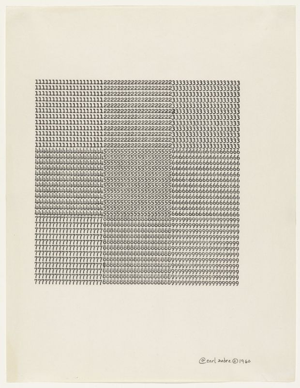 Carl Andre, poeta visual