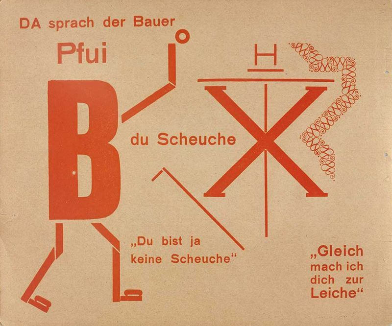 Dada (Theo van Doesburg y Kurt Schwitters), poetas visuales