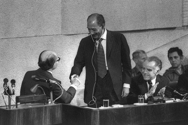 Una Paz permanente basada en la Justicia discurso pronunciado por Anwar el Sadat en el parlamento de Israel en 1977