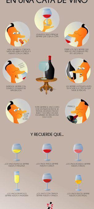 Postureo de los catadores de vino