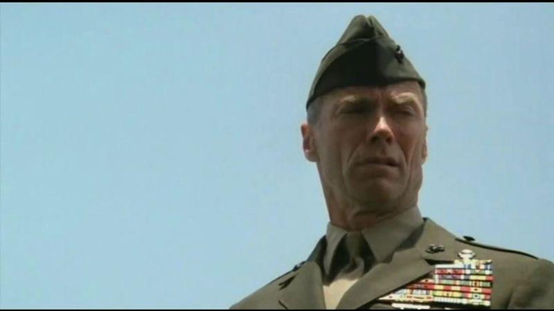 Escenas de El sargento de hierro de Clint Eastwood, 1986