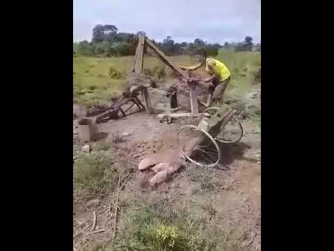 Excavadora artesanal