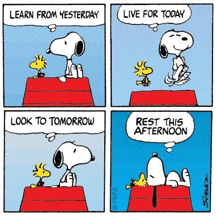 Snoopy, filosofía de vida