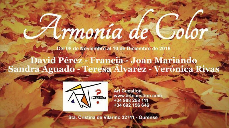 Exposición colectiva Armonía de Color en la Galería Art Cuestion (Orense)