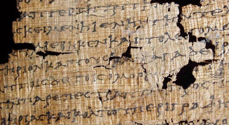 El papiro de Artemidoro del libro Programa de mano
