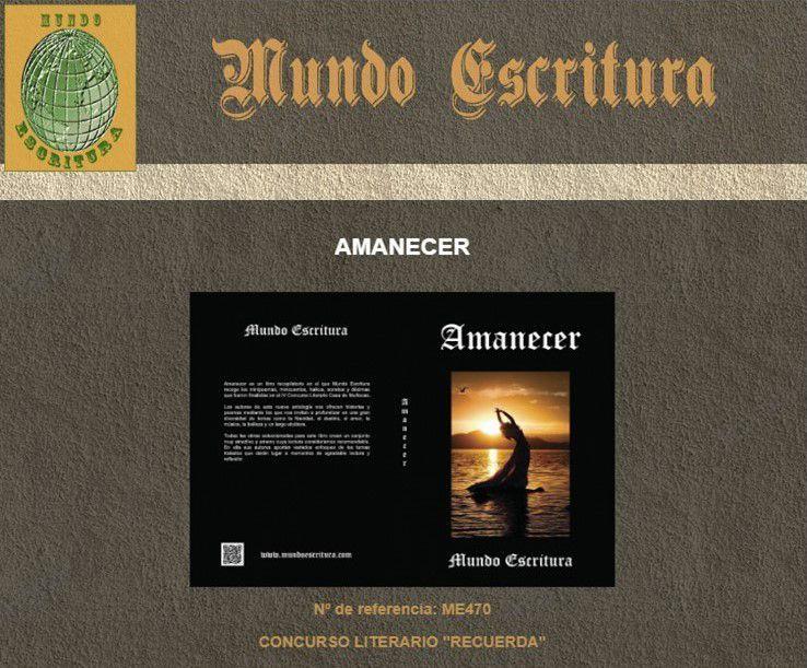 """Publicación """"Amanecer"""" (Mundo Escritura) de Enero de 2019"""