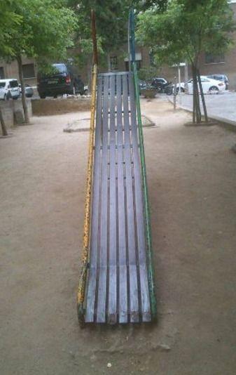 En el parque infantil