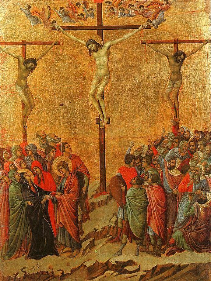 1308-1311, Pasión: la crucifixión de Duccio di Buoninsegna