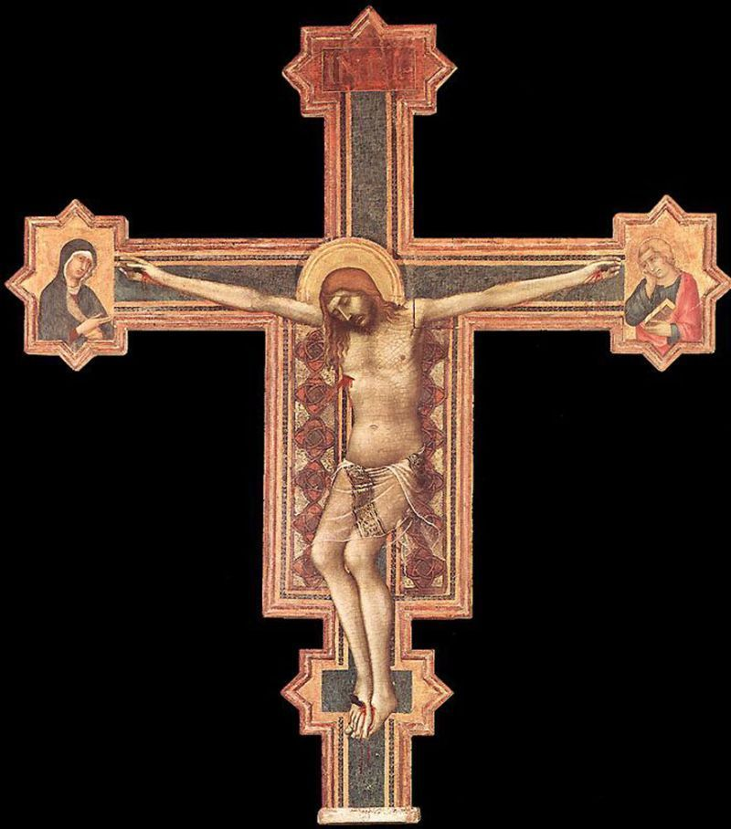 1321-25, La Pasión de Cristo de Simone Martini (Iglesia de la Misericordia de San Casciano, Florencia)