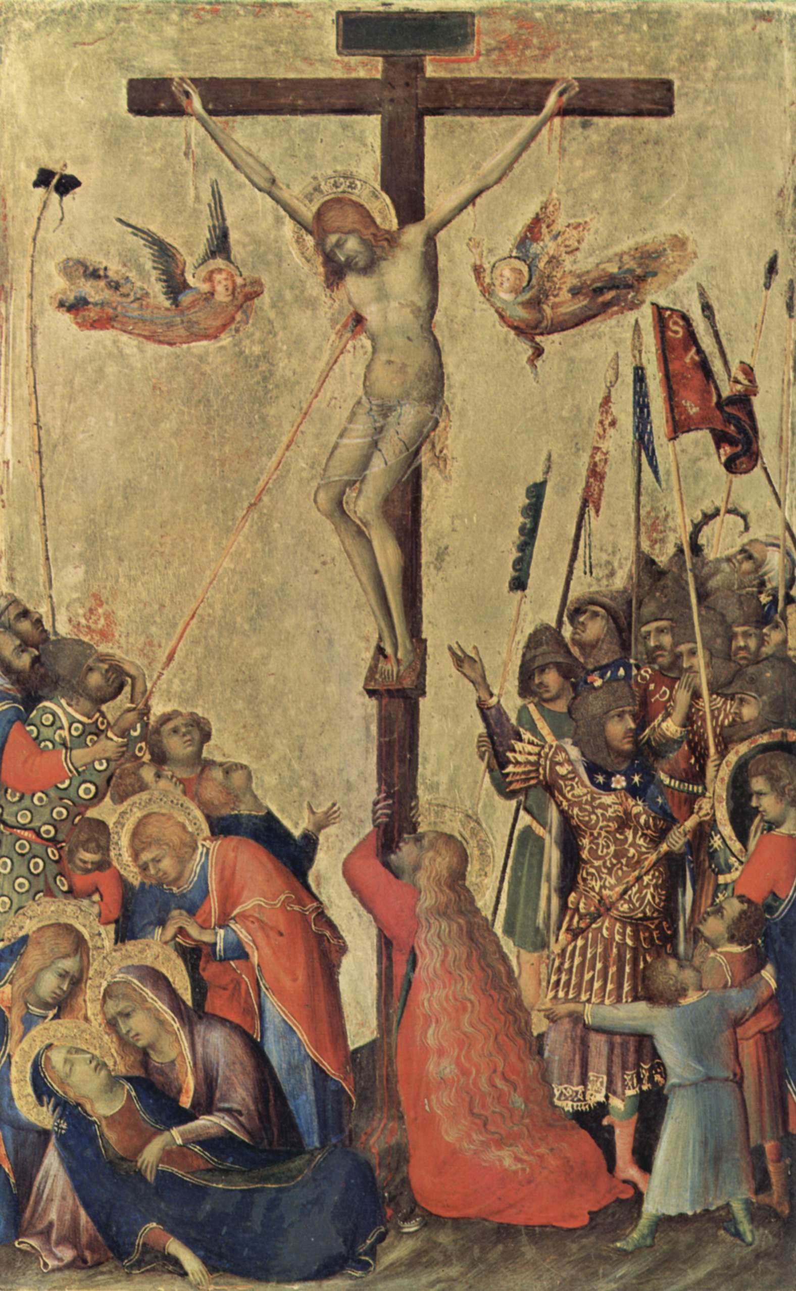 1333, Crucifixion de Simone Martini en el Museo Real de Bellas Artes de Amberes