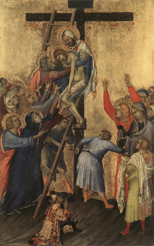 1333, Descendimiento de la cruz de Simone Martini en el Museo Real de Bellas Artes de Amberes