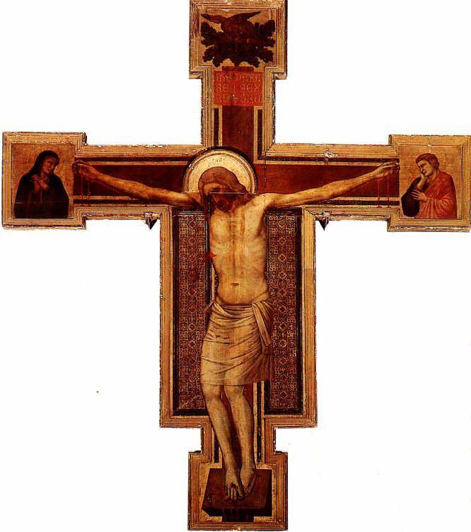 1335, La crucifixión de Giotto di Bondone en la Iglesia de Santa Maria Novella de Florencia