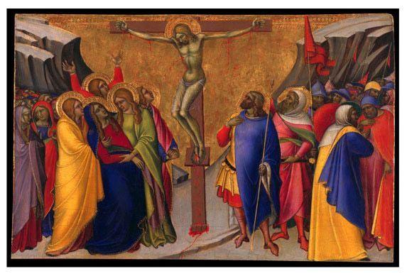 1365, Crucifixión de Luca di Tommè en el Museo de Bellas Artes de San Francisco