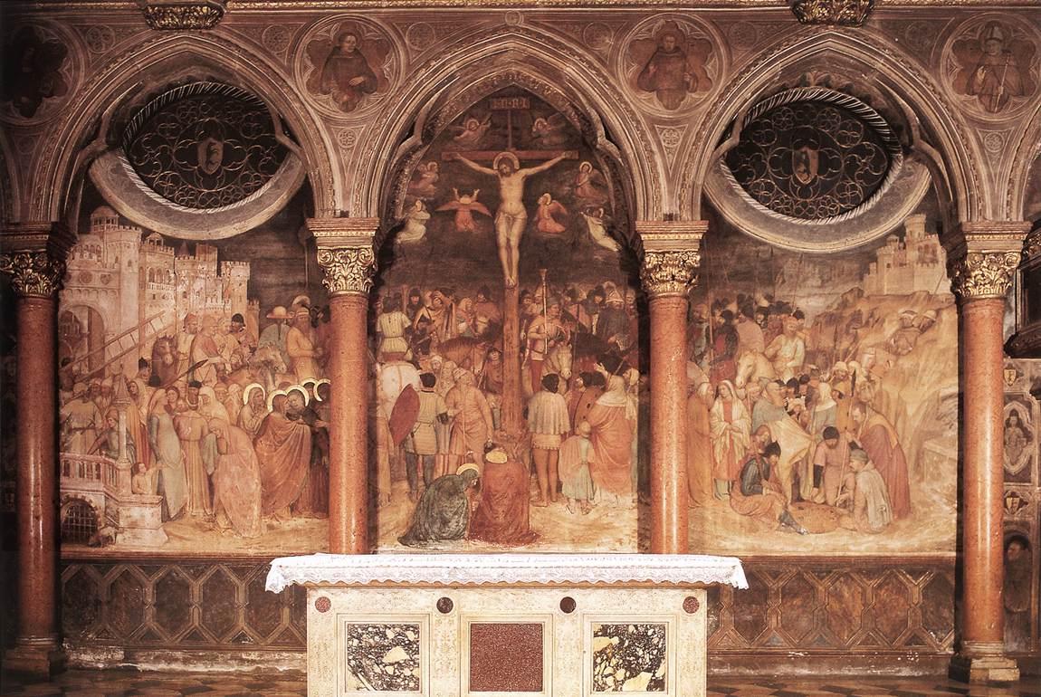 1376-79, Crucifixión de Altichiero da Zevio en la Basílica de San Antonio (Padua, Italia)