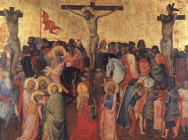 1396, Crucifixión de Agnolo Gaddi en la Galleria degli Uffizi de Florencia