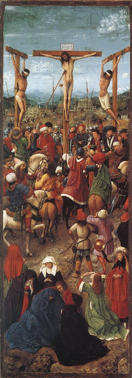 1420-30, Díptico del Calvario y el Juicio Final de Jan van Eyck