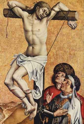 1410, Ladrón crucificado de Robert Campin en el Städelsches Kunstinstitut de Frankfurt