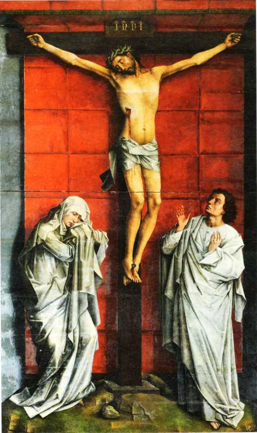 1455, Crucifixión de Scheut de Rogier van der Weyde en el Real Monasterio de San Lorenzo (El Escorial, Madrid)
