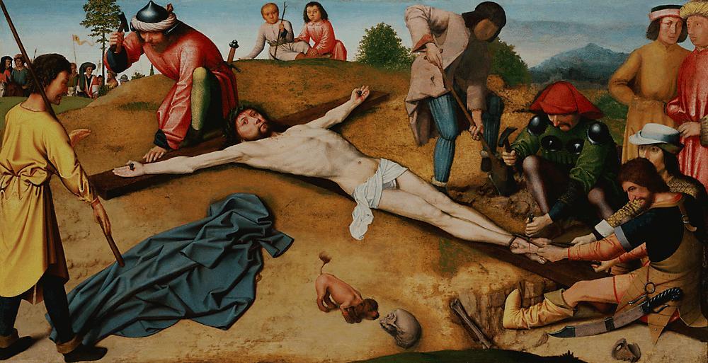 1481, Cristo clavado en la cruz de Gerard David en la National Gallery