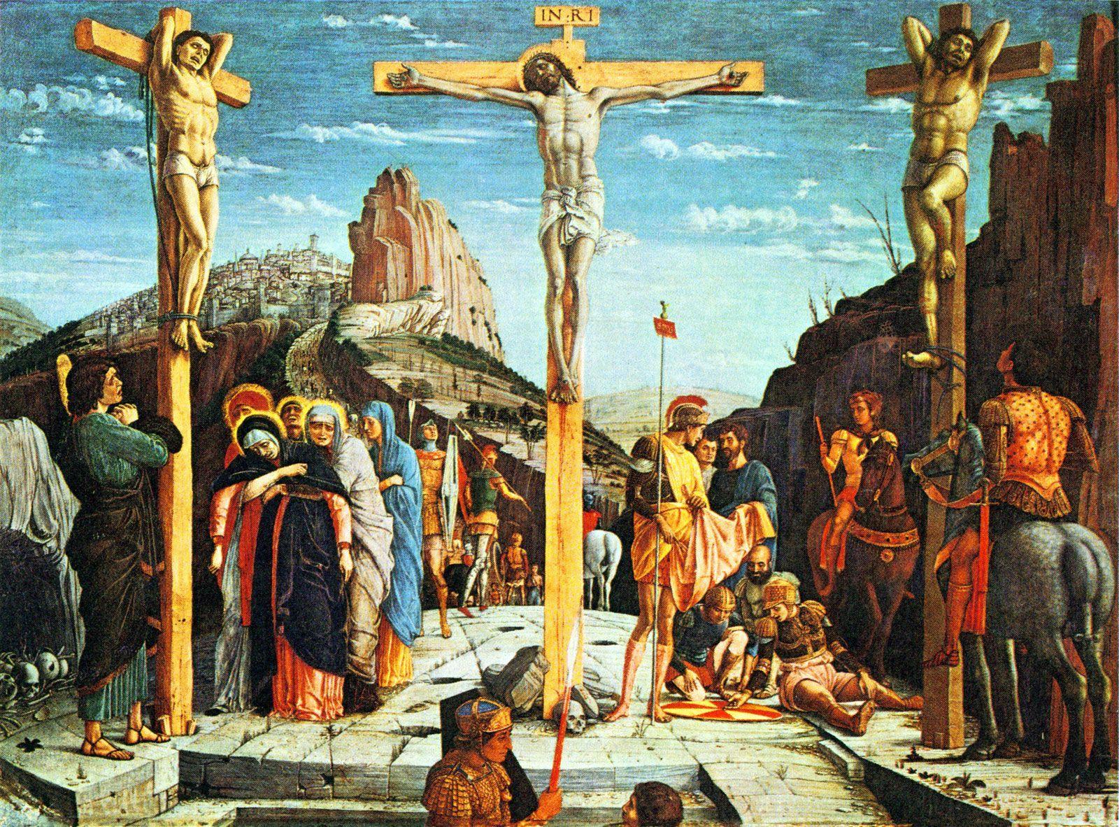 1457-59, La Crucifixión de Andrea Mantegna en El Louvre (París)
