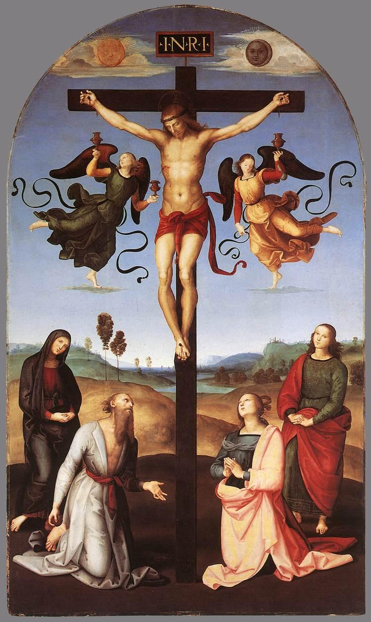 1502-03, Crucifixión Mond de Raffaello Sanzio Rafaello
