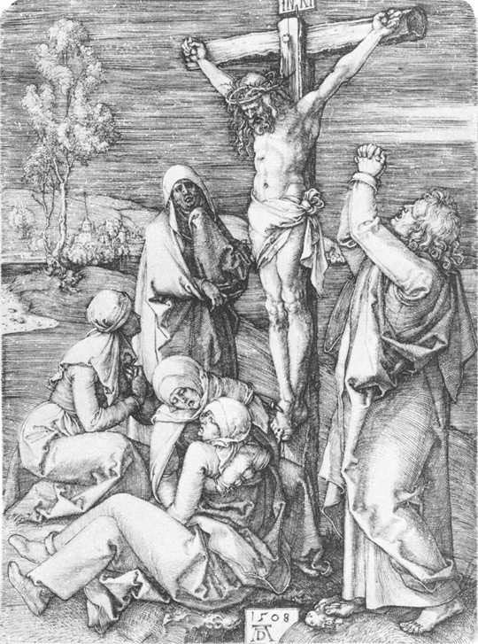 1509-10, La Crucifixión de Alberto Durero en National Gallery of Art, Washington, D.C.