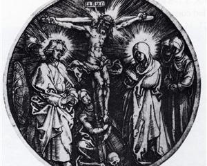1519, Crucifixión de Alberto Durero de la colección Rosenwald Albrecht Dürer