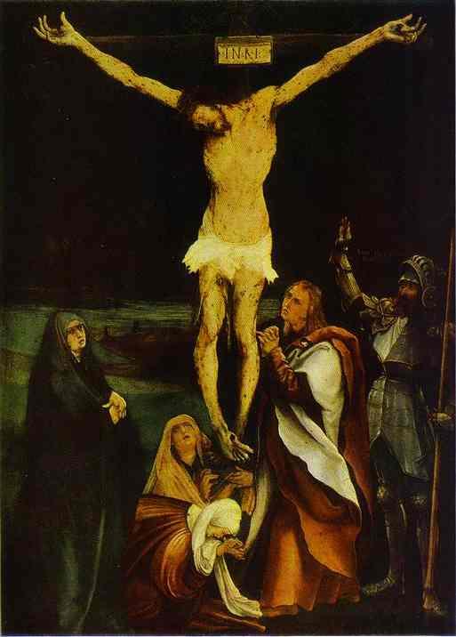 1515, La Crucifixión de Cristo de Matthias Grünewald en el Kunstmuseum Basel