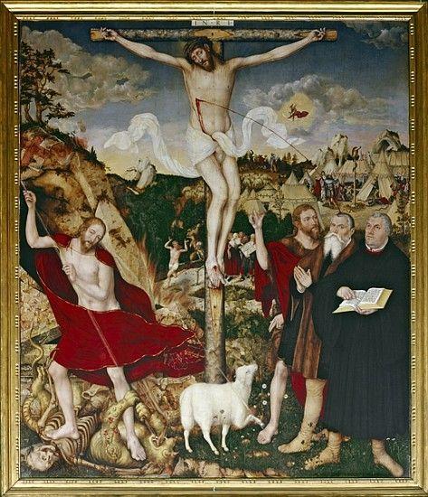 1552-55, Retablo de la iglesia de la ciudad de Lucas Cranach, el joven