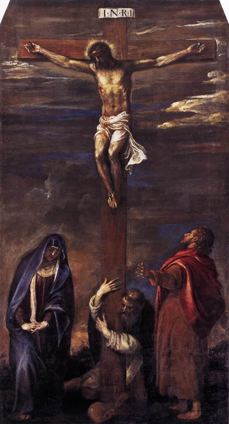 1558, Crucifixión de Tiziano en el Santuario de la iglesia de San Domenico de Ancona