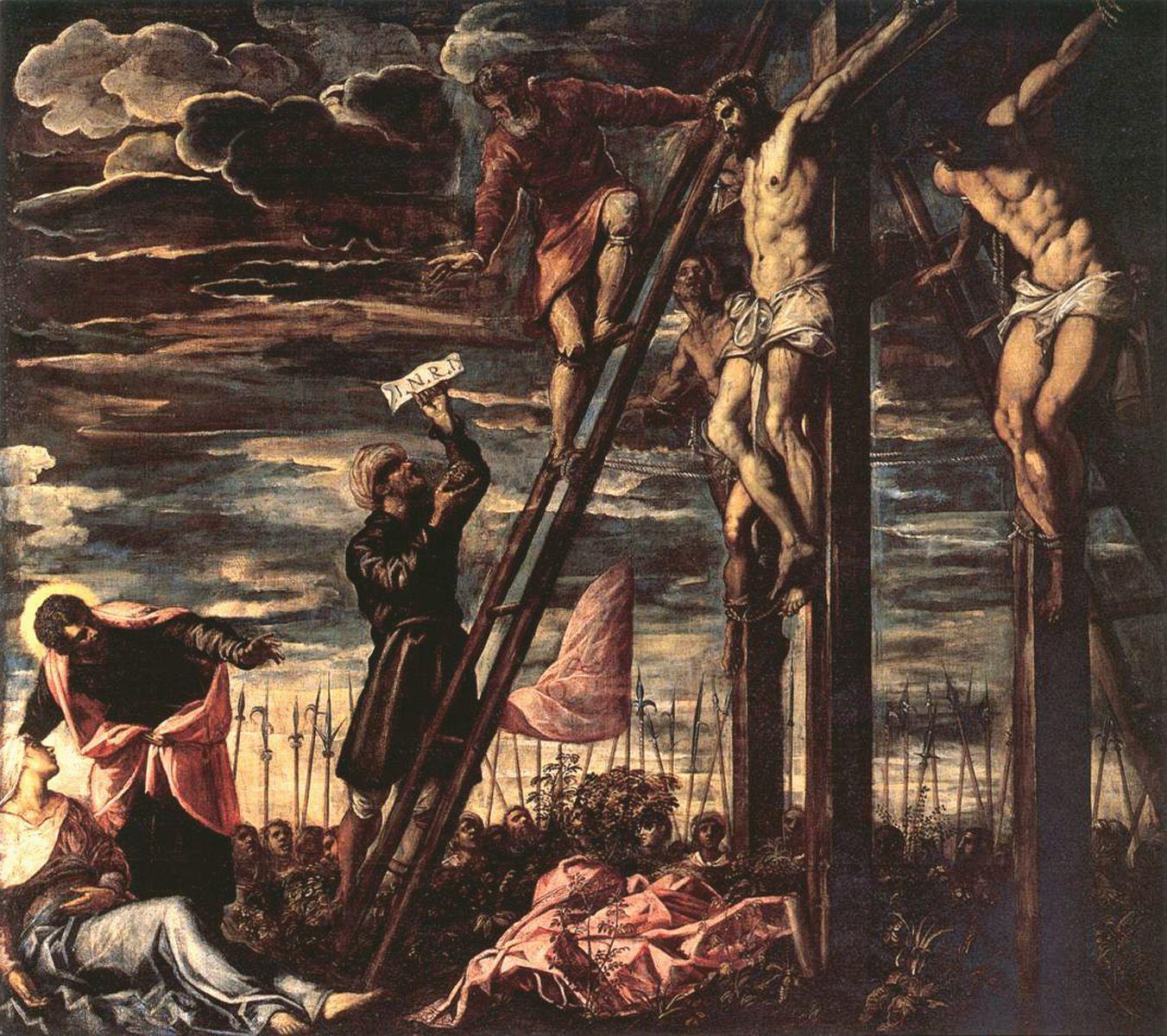1568, La Crucifixión de Cristo de Jacopo Robusti Tintoretto
