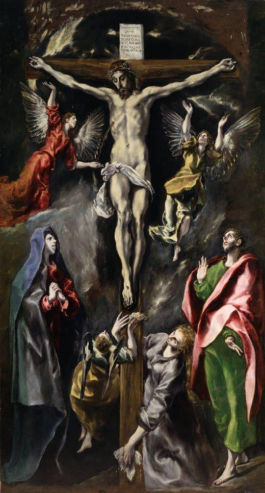 1598, La Crucifixión del Retablo de María de Aragón de El Greco