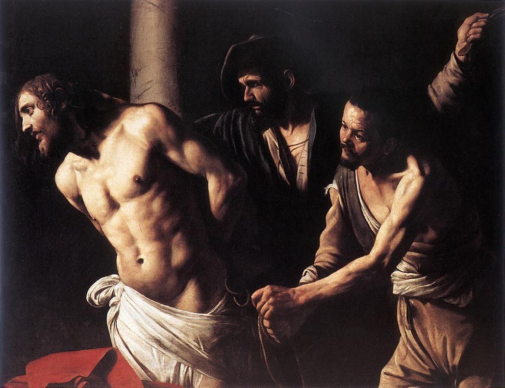 1607, Cristo atado a la columna de Michelangelo Merisi da Caravaggio
