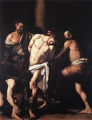 1607-10, La flagelación de Cristo de Merisi da Caravaggio
