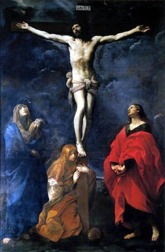1617, Cristo crucificado con la Virgen, San Juan y la Magdalena de Guido Reni