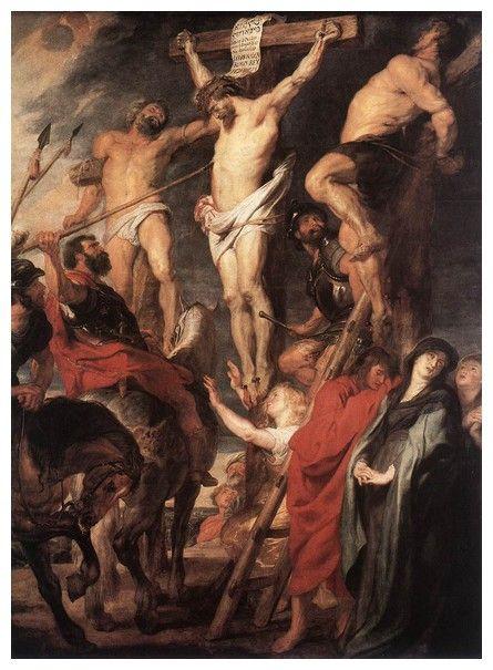 1620, Cristo en la Cruz entre los dos ladrones de Peter Paul Rubens
