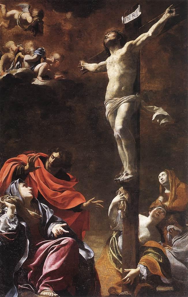 1622, La Crucifixión de Simon Vouet en la Iglesia de Jesús de Génova