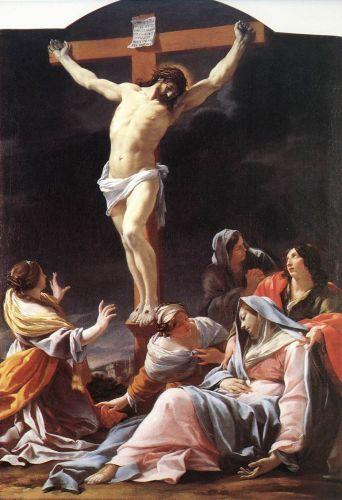 1636-37, Crucifixión de Simon Vouet en el Museo de Bellas Artes de Lyon
