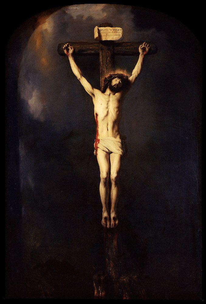 1631, Cristo en la cruz de Jan Lievens en el Musée des Beaux-Arts de Nancy