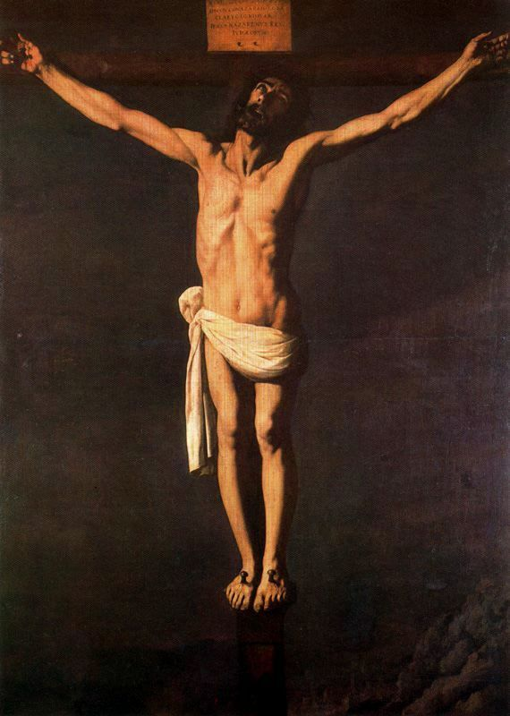 1655, Cristo crucificado de Francisco de Zurbarán en el Museo Nacional de Arte de Cataluña
