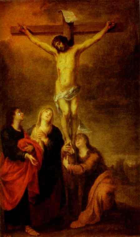 1675-82, Crucifixión de Bartolomé Esteban Murillo en el Hermitage de St. Petersburg