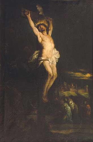 1695, Cristo expirando de Hyacinthe Rigaud en el Museo Hyacinthe Rigaud de Perpignan