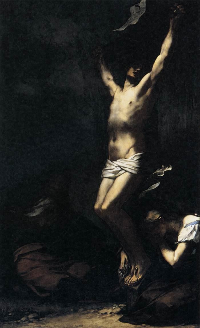 1822, Cristo en la Cruz de Pierre-Paul Prud`hon en el Musée du Louvre de París