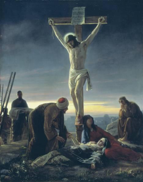 1870, Cristo en la Cruz de Carl Heinrich Bloch en el Museum of National History (Frederiksborg Castle, Copenhagen, Denmark)