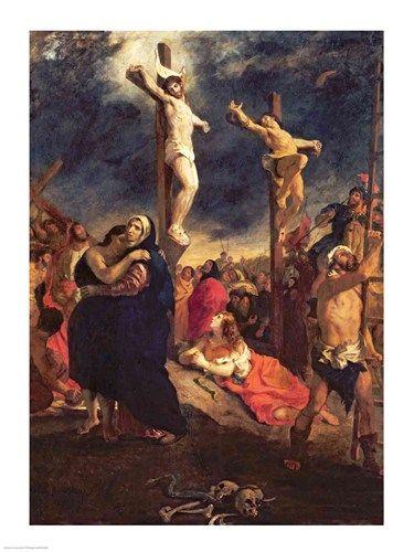 1835, Cristo en la Cruz de Eugène Delacroix en el Musée des Beaux-Arts, Vannes