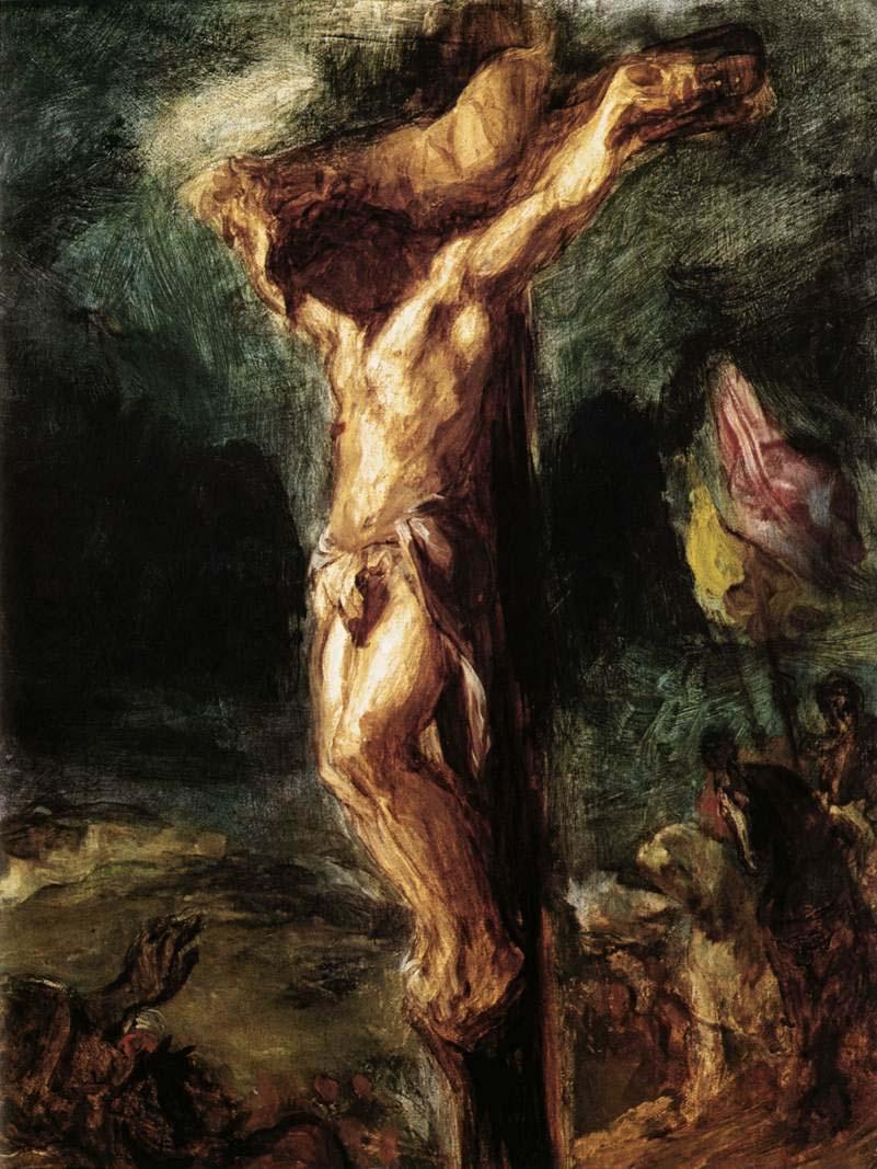 1846, Crucifixión de Eugène Delacroix en el Museum Boijmans van Beuningen (Rotterdam)