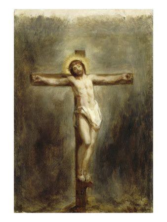 1846, Cristo en la Cruz de Eugène Delacroix en el Musée du Louvre de París