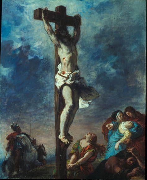 1853, Cristo en la Cruz de Eugène Delacroix en el The National Gallery