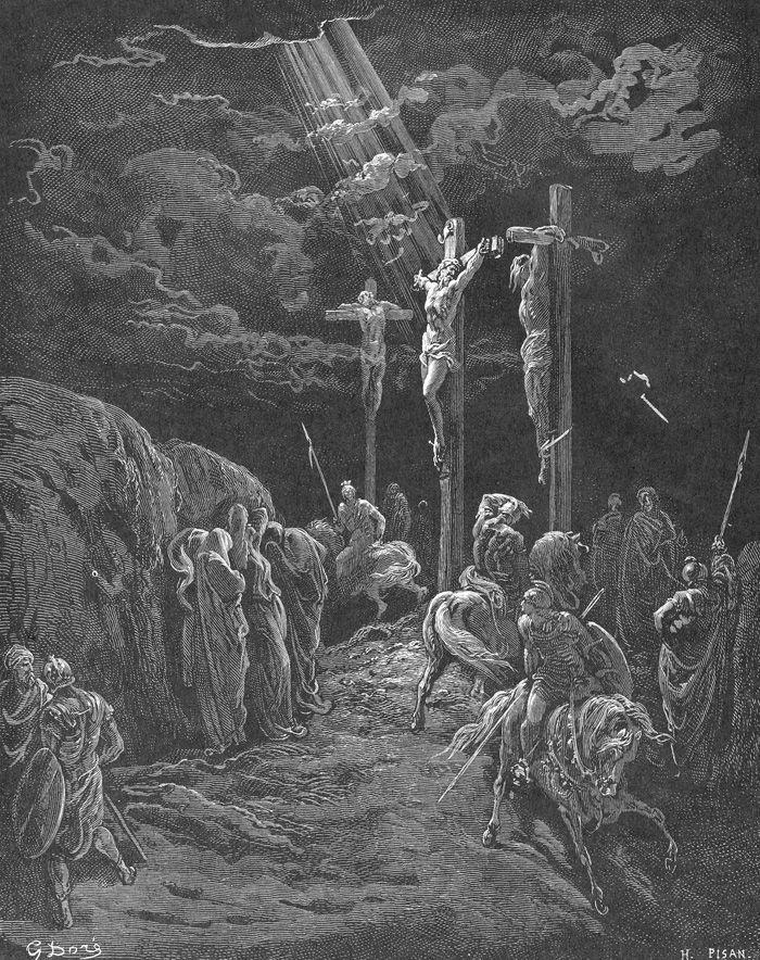 1866, La Crucifixión de Gustave Doré