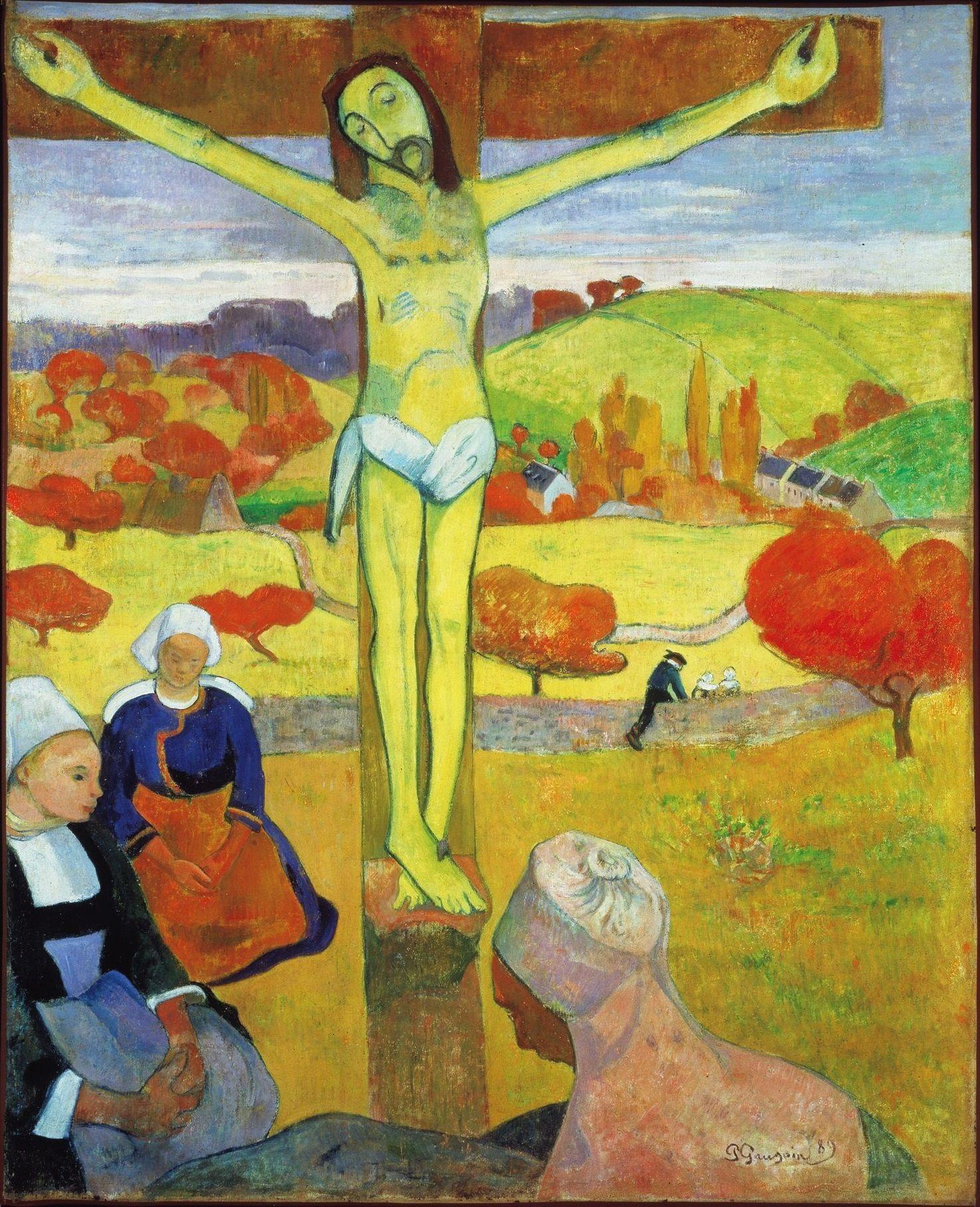 1889, El Cristo amarillo de Paul Gauguin
